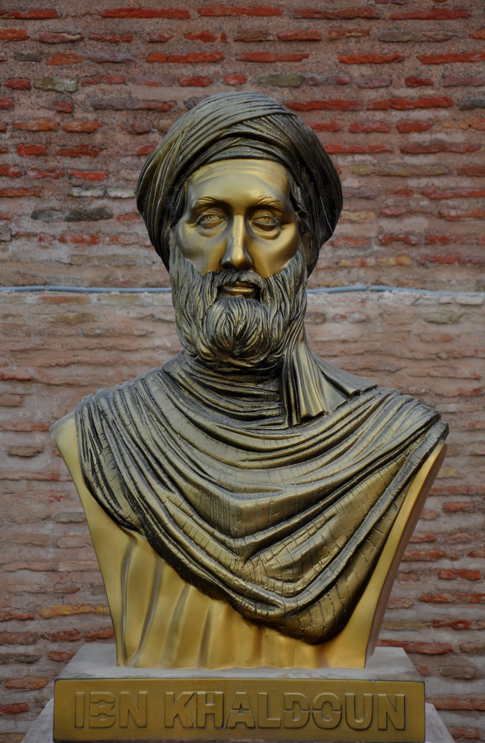 Buste de Ibn Khaldun à la Casbah de Bejaia, Algérie _Wikipedia